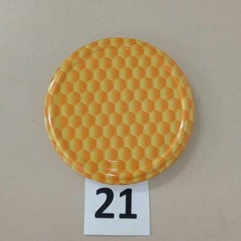 Капачка за буркан Ф82- №21 пчелна пита жълта