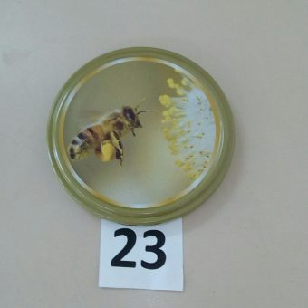 Капачка за буркан Ф82- №23 пчела с прашец