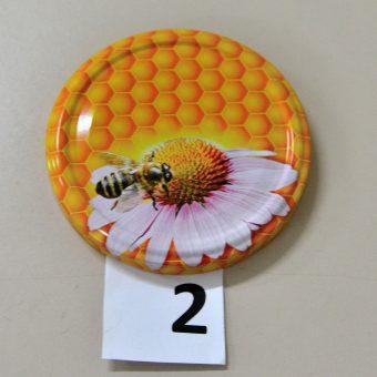 Капачка за буркан Ф82- №2 пчела с маргаритка