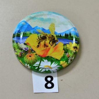 Капачка за буркан Ф82- №8 пчела с пейзаж