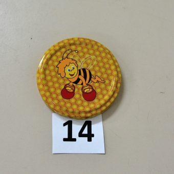 Капачка за буркан Ф63- №14 пчела с две делви