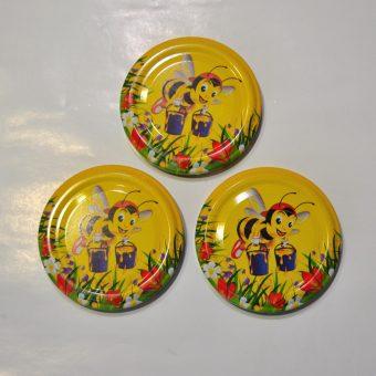 Капачка за буркан Ф63 №16 Мая с делвички/жълт