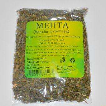 Билки сушени пакет- Мента(Mentha Piperita)